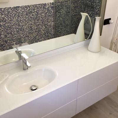 Mobile lavabo in rifacimento bagno a Genova