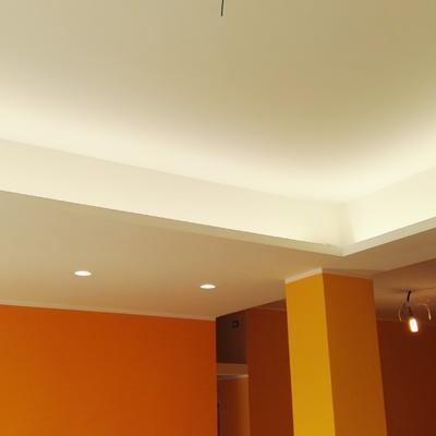 Illuminazione led diffusa per saloni e camere