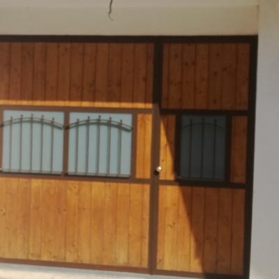 Portone blindato ferro e legno