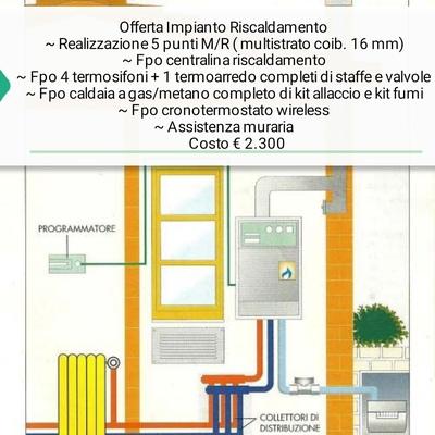 Offerta Rifacimento impianto riscaldamento