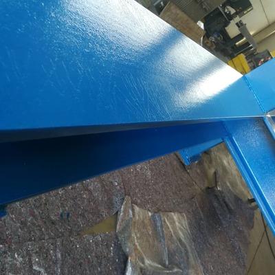 Verniciatura industriale. Prodotto utilizzato blu RAL 5017
