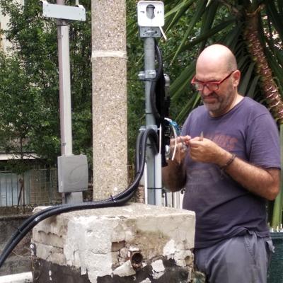 Installazione Radar presso giardino casa privata
