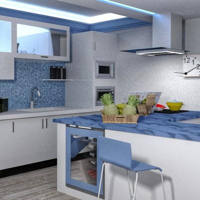 Ristrutturazione cucina render 3d