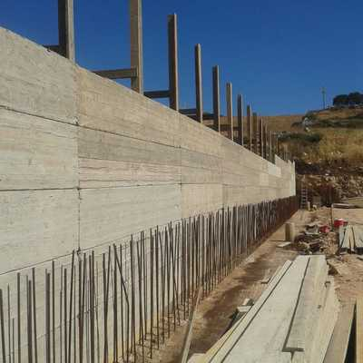 muro in cemento armato di contenimento