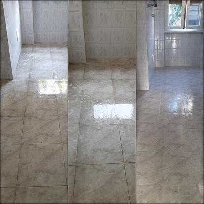 Pulizia pavimento cucina