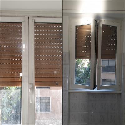 Pulizia cornice vetri e vetri