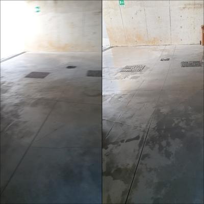 Pulizia pavimento garage