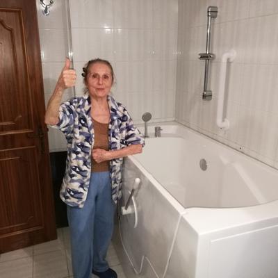 vasca con porta laterale