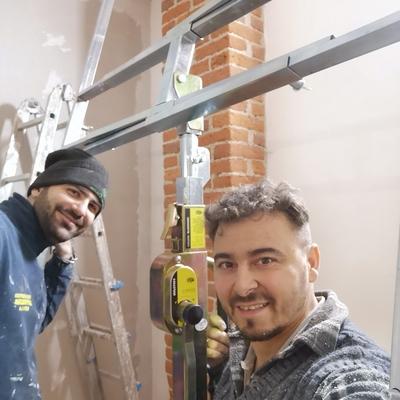 Con il collega Andrea decorazioni
