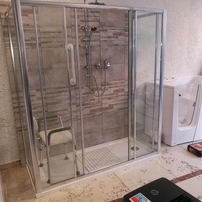 trasformazione vasca con box doccia 170 x 70