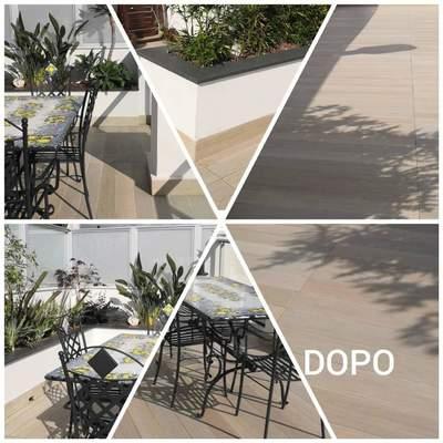 Pavimenti esterni dopo la pulizia