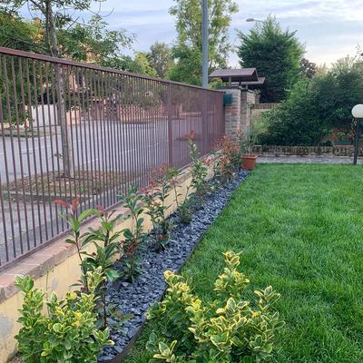 realizzazione del giardino e installazione impianto di irrigazione interrato