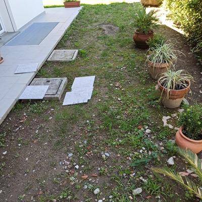 Sistemazione giardino esterno