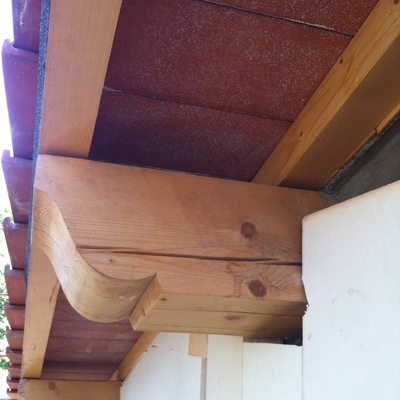 Fase intermedia di realizzazione tetto