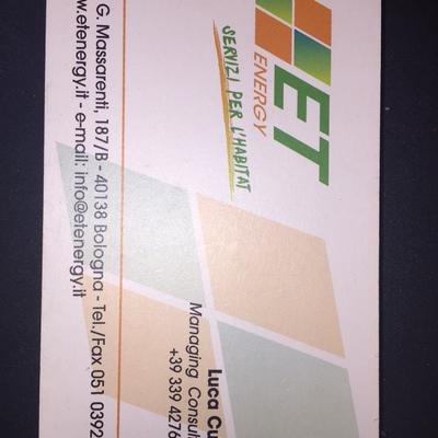 BIGLIETTINO DA VISITA FRONTE (LUCA) CELL.3394276999  UFF. 051 0392184