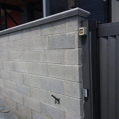 Muro con blocchi di cemento