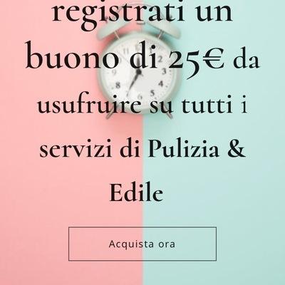 Buono di 25€ per i nuovi clienti che effettuato la registrazione nel nostro sito web