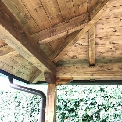 Tettoria in legno lamellare