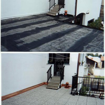 impermeabilizzazione terrazzo in pietra