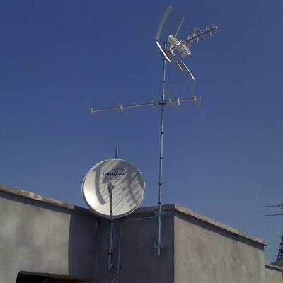 impianto dtv lte + fibra ottica satellitare