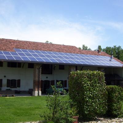Impianto solare fotovoltaico integrato