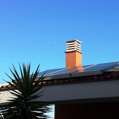 Impianto solare termico per produzione riscaldamento - zona infernetto - Roma