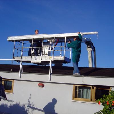 Installazione pergola Pratic al 7° piano