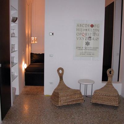 Interno soggiorno (loft al centro storico in Roma/Colosseo)