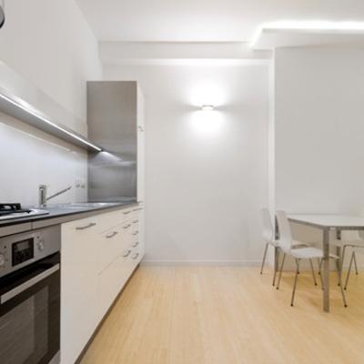 La cucina spaziosa