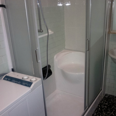 La nuova doccia al posto della vasca