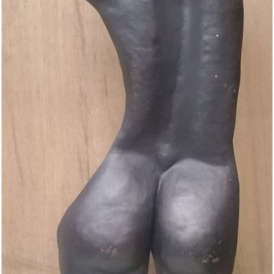 "Lampada-scultura a due luci "" Nudo di donna """