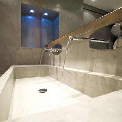 lavabo in microcemento