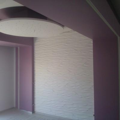 lavorazione muri con pannelli in gesso, e tetto in cartongesso