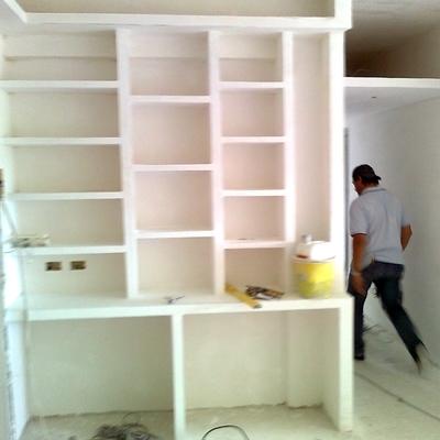 librerie in muratura