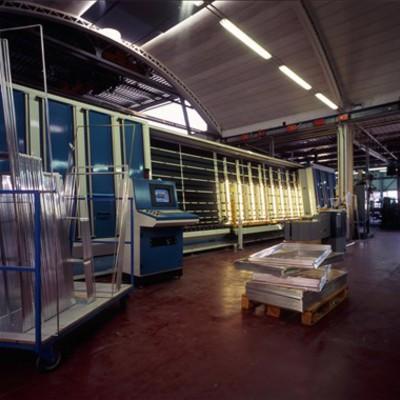 linea produzione vetri termici