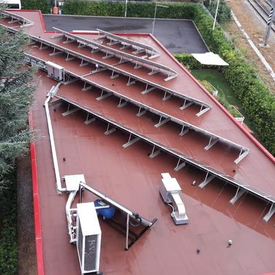 Impianto Fotovoltaico Kwp 33 su tetto piano