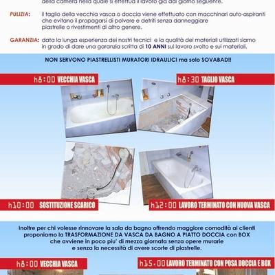 servizio agli alberghi: rinnovo vasche da bagno e piatti doccia