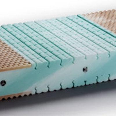 Materasso ortopedico in lattice naturale o memory foam viscoelastico waterlily Tancredi