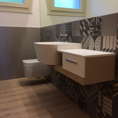 Mobile bagno corian Azulej nera