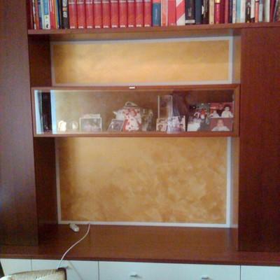 mobile porta tv con perlescente oro
