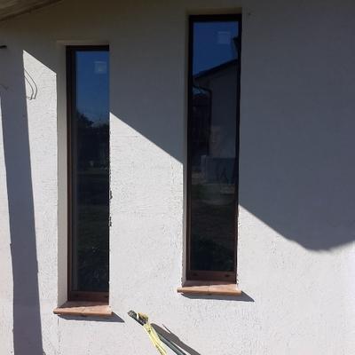 Montaggio vetri fissi in PVC/alluminio