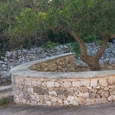 16. muretto pietra naturale di Trani