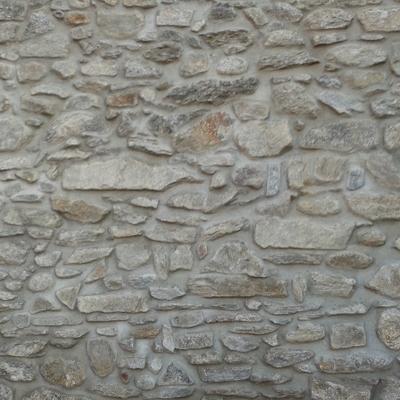 Muro in sasso a vista