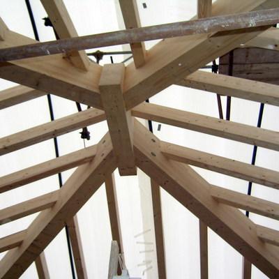 nodo rigido tetto in legno