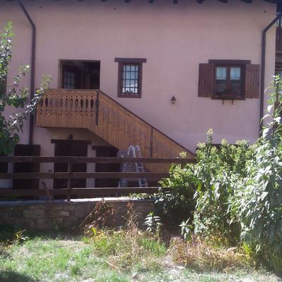 Raschiatura balconata, interno ed  esterno