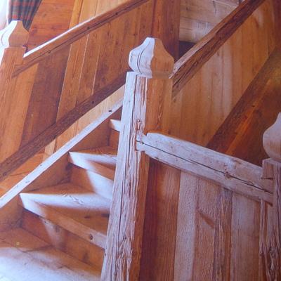 scala più corrimano arte rustica