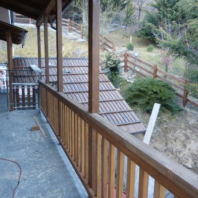 ringhiere in legno per balconi
