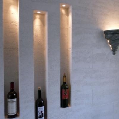 parete in cartongesso con nicchie
