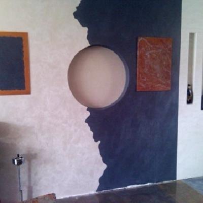 parete in cartongesso d'arredo