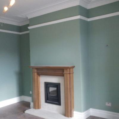 pareti colorate con cornice